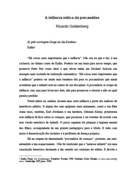 a-infancia-mitica-da-psicanalise_ricardo-goldenberg